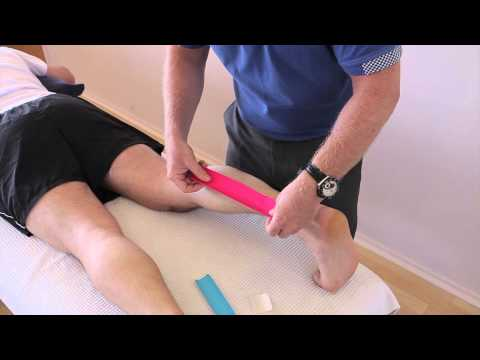 How to treat a Calf strain (Gastrocnemius/Soleus) using Kinesiology Tape