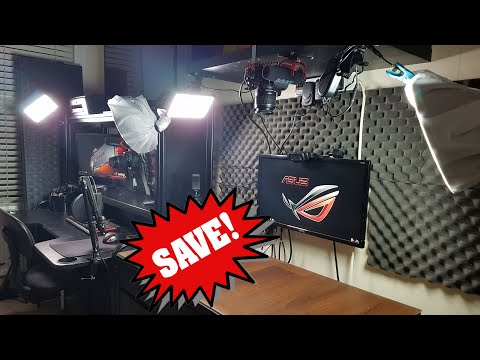 Save Money On Office Rent | Create A Private YouTube Studio In Your Bedroom | Room Tour