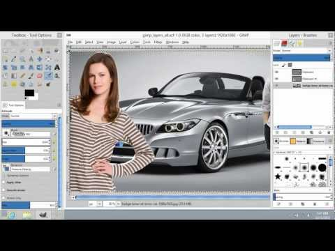 How to Save in GIMP with All Layers