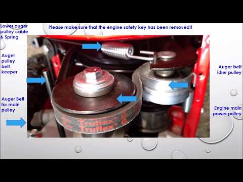 Adjusting  the Auger Cable and Idler Pulley on your Snow Blower