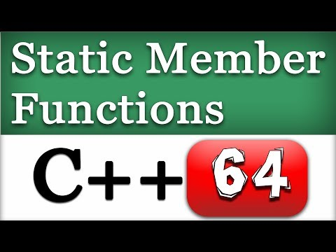 C++ Static Methods in Classes | CPP Object Oriented Video Tutorial