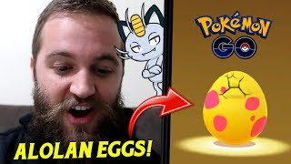 Hatching 9 Alolan Eggs - These Hatches Made Me Laugh! (Pokemon Go 7km Egg Hatch)
