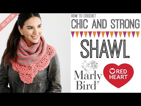 Chic and Strong Crescent Shawl (Right Handed)