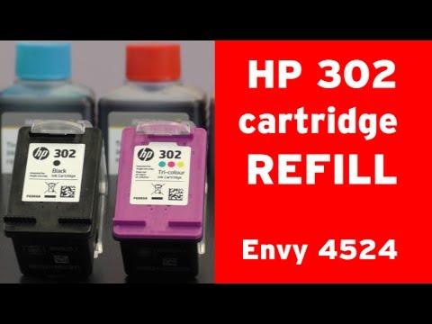 How to refill HP 302 inkjet cartridge?  HP Envy 4524