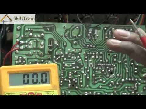 Using a multimeter on a PCB (Hindi) (हिन्दी)
