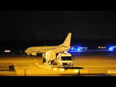 Birmingham Airport BHX Emergency Fire Crews Cross Runway