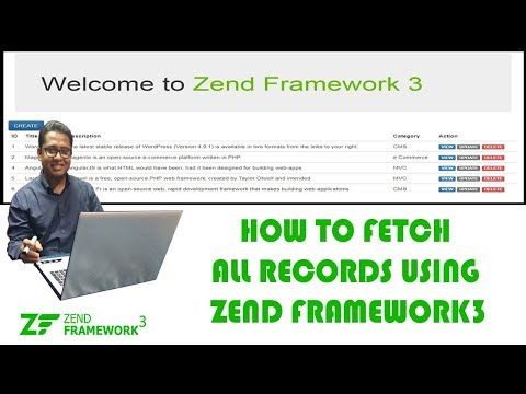 How to Fetch all Records from Database and Display on Home Page using Zend Framework 3 Part-5