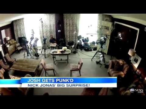 Nick Jonas Punk's Josh Elliott on GMA!