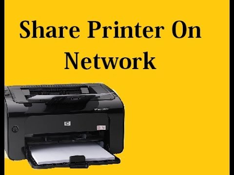 how to share printer on network hindi