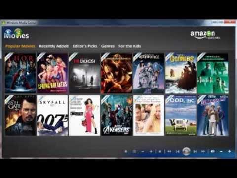 Amazon Instant Video for Windows Media Center