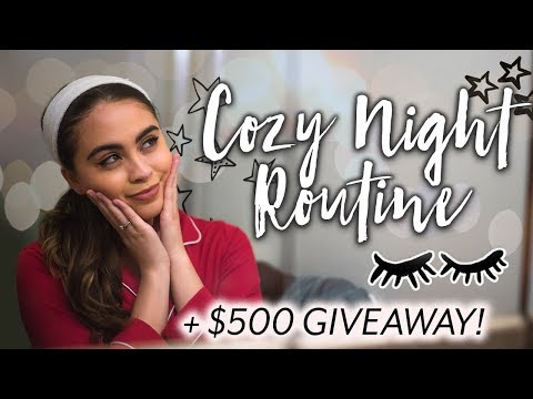 COZY WINTER NIGHT ROUTINE + HUGE $500 GIVEAWAY! ♡
