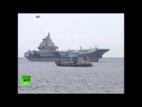 RAW: Chinese aircraft carrier Liaoning enters Hong Kong waters