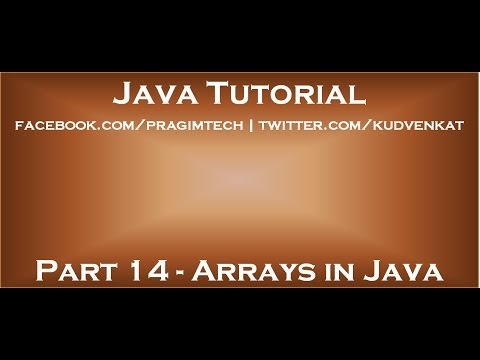 Arrays in Java   Continued