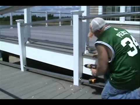 Cable Railing with Stainless Rails Installation Video