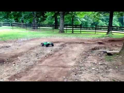 Homemade nitro RC car freestyle