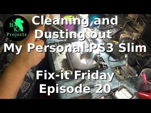 How to Clean and Dust out a PS3 Slim: Fix-It Friday Ep 20 Also, troubleshooting disc eject problems