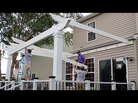Installing An Attached Trex Pergola On A Deck