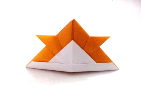 How to make an origami paper samurai helmet | Origami / Paper Folding Craft, Videos and Tutorials.