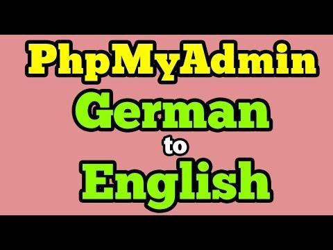 PhpMyAdmin | Change German to English Language