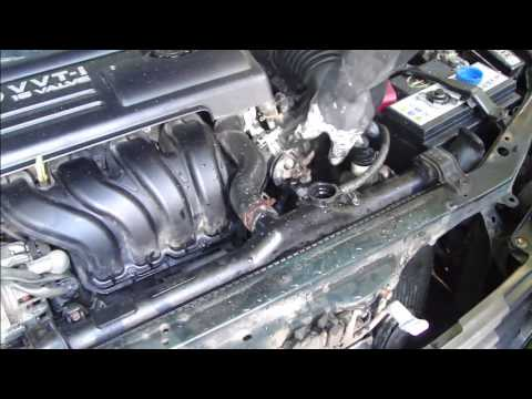 How to flush cooling system Toyota Corolla. Years 1999 to 2007.