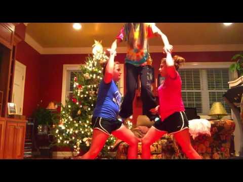 3 person cheer stunts♥️