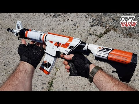 HOW TO MAKE M4A4   ASIIMOV IN REAL LIFE (CS:GO,DIY)