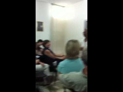Israel answers his phone, Columbia Cuba