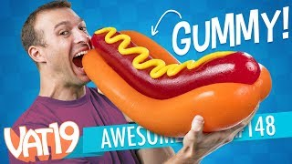 The Gigantic Gummy Hot Dog, a Zit Popping Toy, Simpsons Energy Drinks, and More | A.T. #148