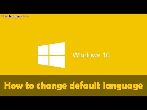 How to change default language of Windows 10