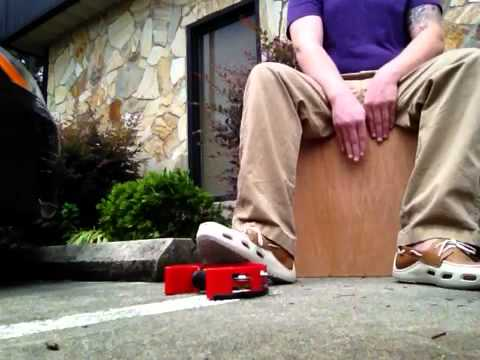 DIY cajon jam. Schlagwerk booster box dimensions with Pearl