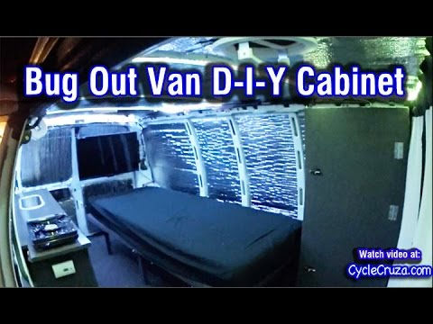 Van Build: Custom Cabinet Build - Bug Out Campervan