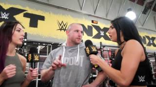 Billie Kay & Peyton Royce look for votes in the WWE Performance Center Gym