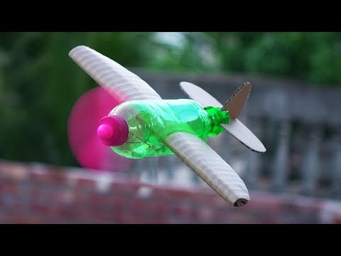 How to Make a Flying Airplane using Plastic Bottle and Cardboard