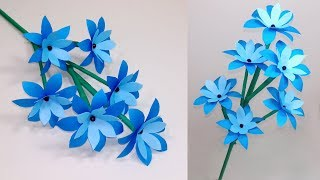 How To Make Very Beautiful Paper Stick Flower!! Stick Flower: Handcraft | Jarine
