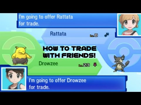How To Trade With Friends in Pokemon Ultra Sun and Moon Tutorial