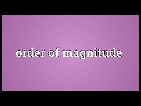 Order of magnitude Meaning