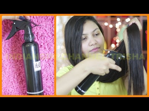Homemade hair serum for silky shiny soft manageable hair/indiangirlchannel trisha