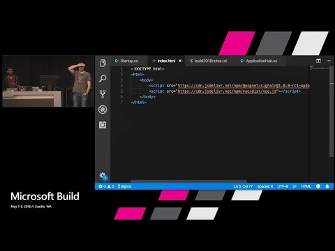 Meet the new stack for real-time web communication: ASP.NET Core SignalR : Build 2018