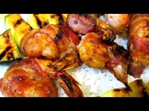 BBQ Shrimp - Bacon Wrapped Grilled Shrimp Recipe