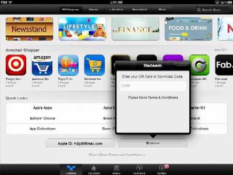How to Download an App using a Gift Card or Code