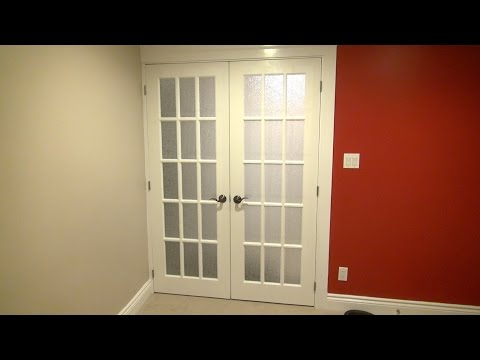 How to Install Double French Doors - The Burke Home Theater Project