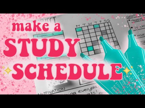 (Exam) Study Schedule Design Tutorial