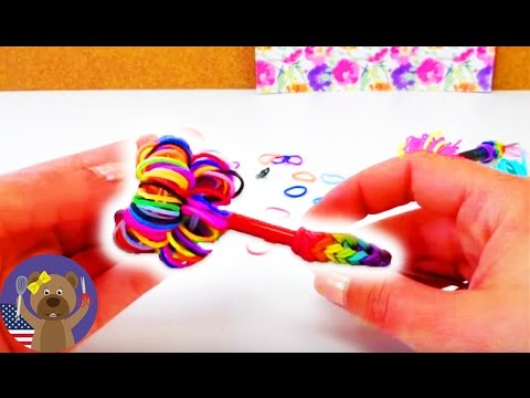 loom bands tutorial pencil topper easy - rainbow loom pencil grip