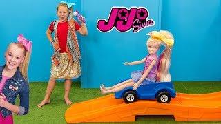 JOJO Siwa Rollercoaster Challenge The Assistant Wins Jojo Toys Video