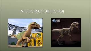 All Dinosaurs in Lego Jurassic World (including all versions, skeletons and babies)