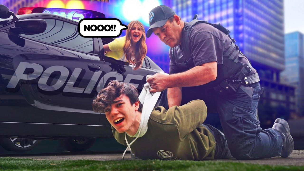 Last to Get ARRESTED Wins $10,000 Challenge **REAL COPS**🚓👮| Jentzen Ramirez