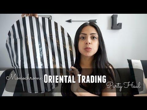 Black & White Striped Oriental Trading Haul!!