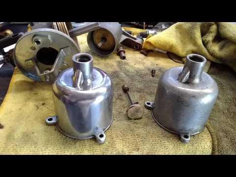 MG TD  SU Carburetor suction chamber polishing