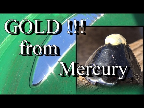 GOLD FROM MERCURY !!!!!! Out Of Black Sand. ask Jeff Williams