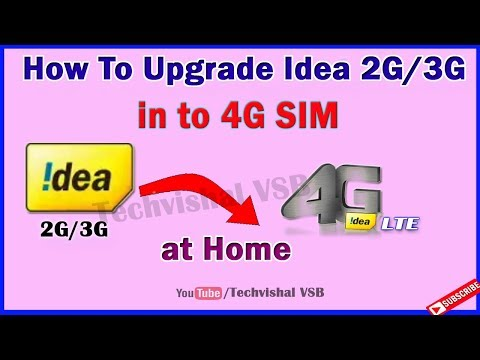 How To Upgrade Idea Sim 2G/3G to 4G Online New Process II 4G Idea Upgrade online Free